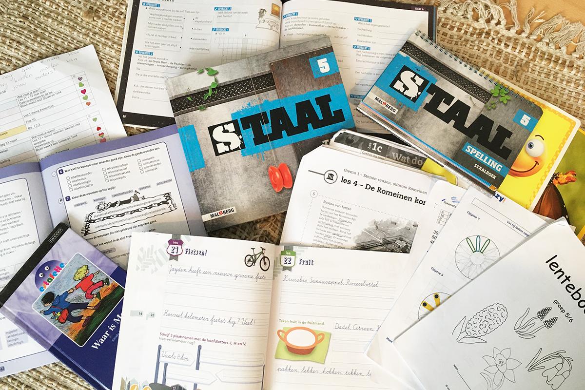 オランダの教科書、自宅学習教材